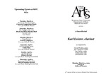 Guest Recital: Karl Leister, clarinet