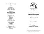 Senior Recital: Carey Moore, flute