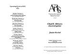 Junior Recital: Chad E. Shivers, classical guitar