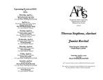 Junior Recital: Theresa Stephens, clarinet