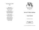Senior Recital: Kevin O. White, baritone