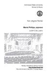 Non-degree Recital: Maria Phillips, soprano