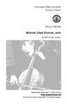 Senior Recital: Michael Caleb Thomas, cello