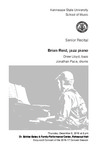 Senior Recital: Brian Reid, jazz piano