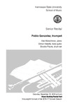 Senior Recital: Pablo Gonzalez, trumpet