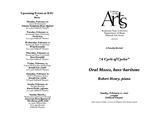 Faculty Recital: Oral Moses