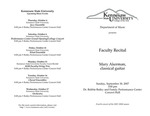 Faculty Recital: Mary Ackerman, classical guitar