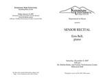 Senior Recital: Erin Bell, piano