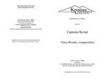 Capstone Recital: Vince Brooks, composition