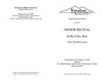 Senior Recital: Kelly Cato, flute
