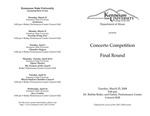 Concerto Competition, Final Round
