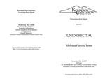 Junior Recital: Melissa Harris, horn