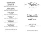 Pi Kappa Lambda Induction Ceremony and Honors Recital