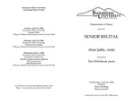 Senior Recital: Alan Jaffe, viola