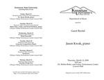 Guest Recital: Jason Kwak, piano