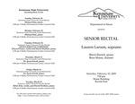 Senior Recital: Lauren Larson, soprano