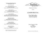 Junior Recital: Paul McCarthy, classical guitar
