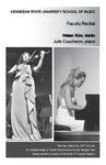 Faculty Recital: Helen Kim, violin with Julie Coucheron, piano