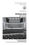 Junior Recital: Edie Sinclair, clarinet