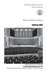 Senior Capstone Recital: Joshua Little