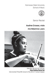 Senior Recital: Audine Crosse, viola by Audine Crosse, Arie Motschman, Nathaniel Roberts, Nasaar Edwards, and Josie Campbell