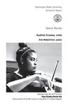 Senior Recital: Audine Crosse, viola