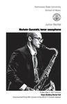 Junior Recital: Muhsin Quraishi, tenor saxophone