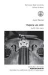 Junior Recital: Huijeong Lee, violin