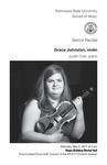 Senior Recital: Grace Johnston, violin