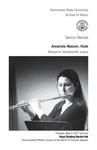 Senior Recital: Amanda Macon, flute