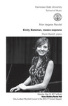 Non-degree Recital: Emily Bateman, mezzo-soprano
