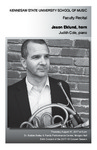 Faculty Recital: Jason Eklund, horn with Judith Cole, piano