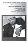 """Faculty Recital: Tyrone Jackson, jazz piano, """"Tribute to The Fender Rhodes in Jazz"""""""