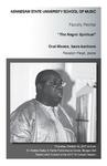 """Faculty Recital: Oral Moses, bass-baritone, """"The Negro Spiritual"""""""