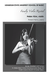 Faculty Recital: Helen Kim, violin with Robert Henry, piano