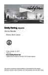 Senior Recital: Emily Hering, soprano