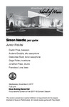 Junior Recital: Simon Needle, jazz guitar