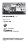 Senior Recital: Rachel Ann LaRocca, violin