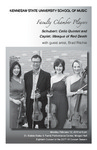Faculty Chamber Players with guest artist Brad Ritchie, cello by Brad Ritchie, Helen Kim, Kenn Wagner, Catherine Lynn, Charae Krueger, and Elisabeth Remy Johnson