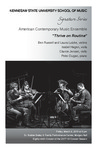 American Contemporary Music Ensemble by Ben Russell, Laura Lutzke, Isabel Hagen, Clarice Jensen, and Peter Dugan