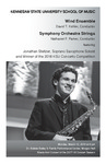 Wind Ensemble and Symphony Orchestra Strings featuring Jonathan Steltzer, Soprano Saxophone Soloist and 2018 KSU Concerto Winner