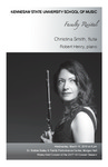 Faculty Recital: Christina Smith, flute with Robert Henry, piano