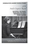 2018 Student Composers Recital by Sean Brinkley Jr., Ben Champion, Nicholas Felder, Andrew Niehoff, Rachel Rabeneck, and Eric Ramos