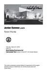 Senior Recital: Jordan Sommer, piano