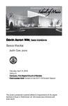 Senior Recital: Devin Aaron Witt, bass trombone