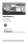 Junior Recital: Lauren Greene, violin by Lauren Greene and Judith Cole