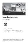 Senior Recital: Joseph Donohue, percussion