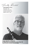 Faculty Recital: John Warren, clarinet,