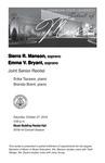 Joint Senior Recital: Sierra R. Manson, soprano and Emma V. Bryant, soprano