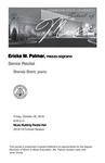 Senior Recital: Ericka M. Palmer, mezzo-soprano